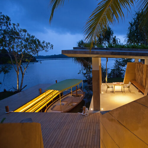 View of decking from Ahilya by the sea