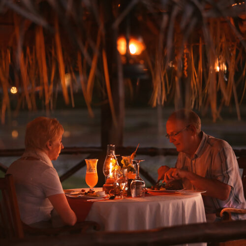 couple eating at coconut lagoon