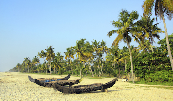 old fishing boats on beach in india