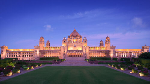 Outside view of Taj Umaid Bhawan Palace