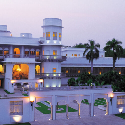 Taj Usha Kiran Palace at sunset