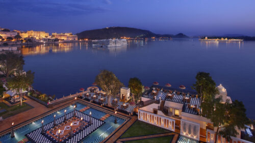 The Leela Palace, Udaipur at night