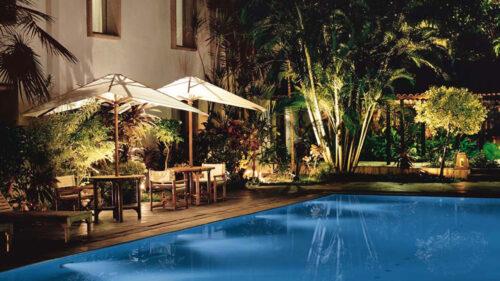 Trident Cochin pool at night