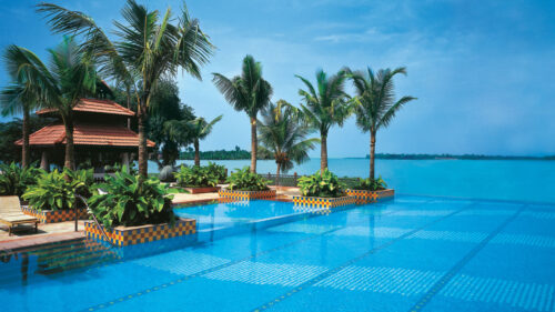 Pool and ocean view at Vivanta by Taj, Malabar