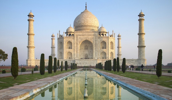 Perspective view on Taj Mahal mausoleum