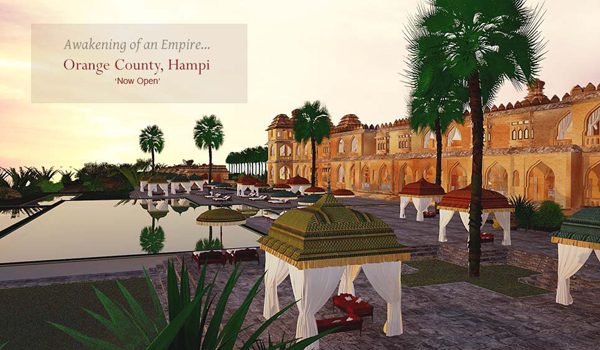 Orange County Hampi is now open on the very outskirts of Hampi © Orange County Resorts