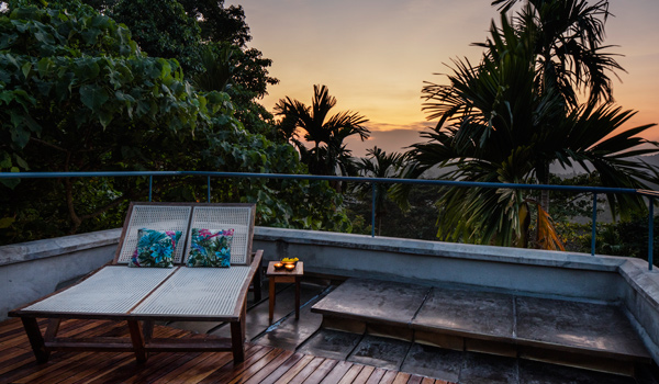 Guests can watch the sunset from the comfort of their room © Ed Reeve