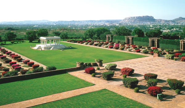 The Umaid Bhawan Palace isn't only famous for being one of the world's largest homes - its gardens are well-known, too © Taj Hotels