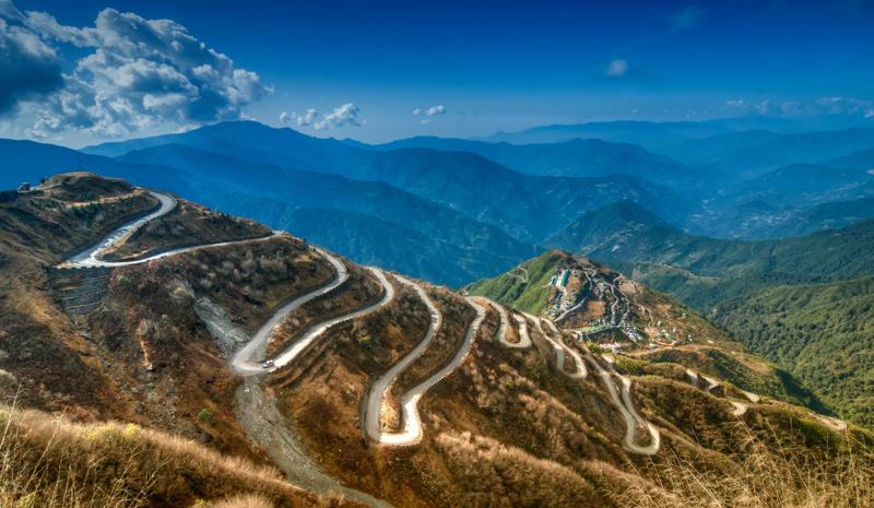 Himalayan India   Mountain Road