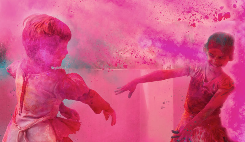 Philippa Kaye | Kids playing holi