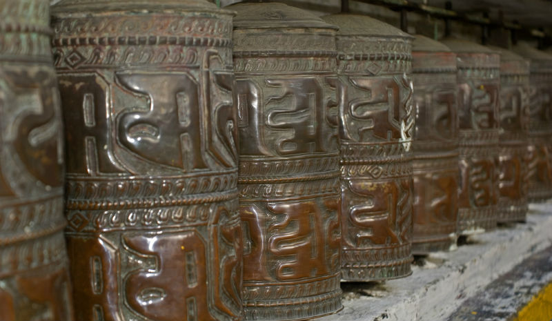 Darjeeling Temple | Prayer wheels