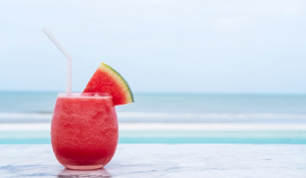 Best Bars in Goa | watermelon-smoothie-on-blue-tropical-beach-summer-holiday-concept-picture-id1015481446 RachaStock_iStock