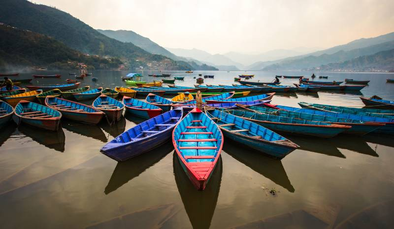 Nepal Honeymoon | Boats on Phewa Lake