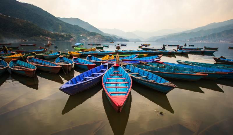 Nepal Honeymoon | Boats on Phewa Lake